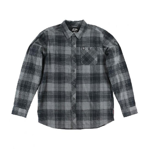 METAL MULISHA STRANGER FLANNEL IN MENS CLOTHING L/S WOVEN - MENS FLANNEL SHIRTS - MENS SHIRTS LONG SLEEVE SHIRTS - SHIRTS