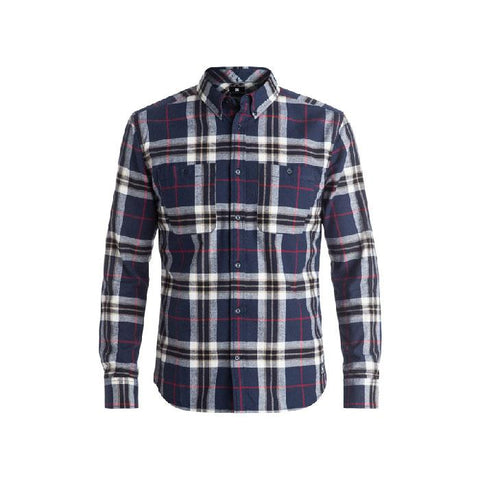 DC SOUTH FERRY 4 LONG SLEEVE SHIRT IN MENS CLOTHING L/S WOVEN SHIRT - MENS FLANNEL SHIRTS - MENS BUTTON UP LONG SLEEVE  SHIRTS - SHIRTS