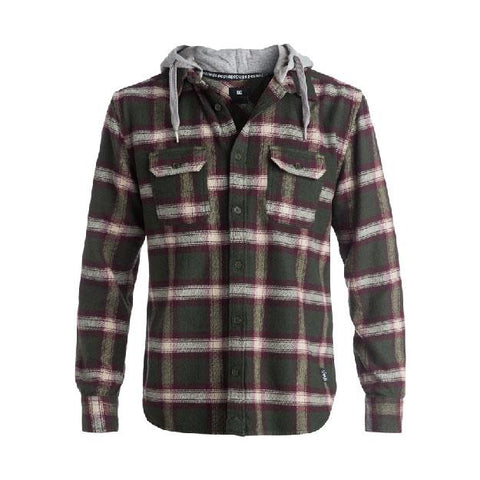DC RUNNELS LONG SLEEVE SHIRT IN MENS CLOTHING L/S WOVEN SHIRT - MENS BUTTON UP LONG SLEEVE SHIRTS - MENS FLANNEL SHIRTS - SHIRTS