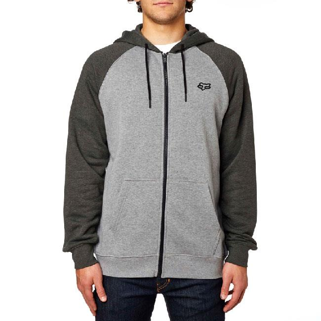 FOX LEGACY ZIP FLEECE IN MENS CLOTHING HOODIES - MENS FULL ZIP HOODIES - MENS SWEATSHIRTS