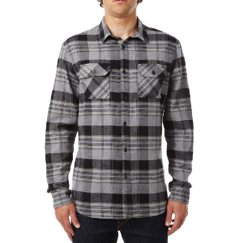 FOX GLAMPER LONG SLEEVE FLANNEL IN MENS CLOTHING LS WOVEN - MENS FLANNEL SHIRTS - MENS SHIRTS - MENS LONG SLEEVE WOVEN - MENS SHIRTS