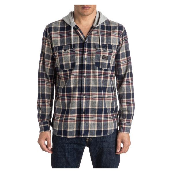 QUIKSILVER FELLOW PLAYER LONG SLEEVE HOOD IN MENS CLOTHING HOODIES - MENS BUTTON UP LONG SLEEVE SHIRTS - MENS FULL ZIP HOODIES - MENS SWEATSHIRTS