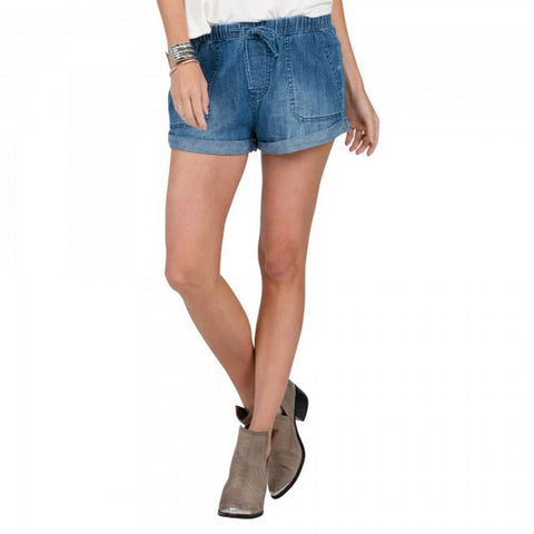VOLCOM SUNDAY STRUT SHORTS IN WOMENS CLOTHING DENIM SHORTS - WOMENS JEAN SHORTS - SHORTS