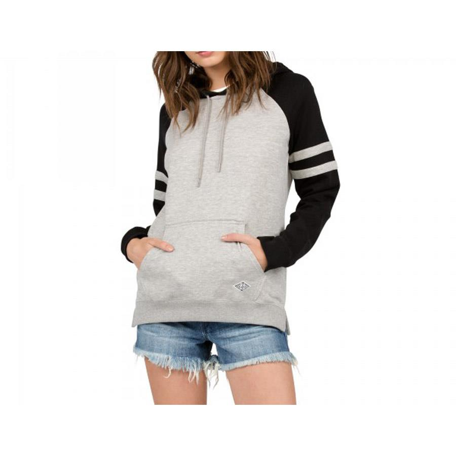 VOLCOM LIVED IN COLOR BLOCK PULLOVER HOODY IN WOMENS CLOTHING HOODIES - WOMENS PULLOVER HOODIES - SWEATSHIRTS