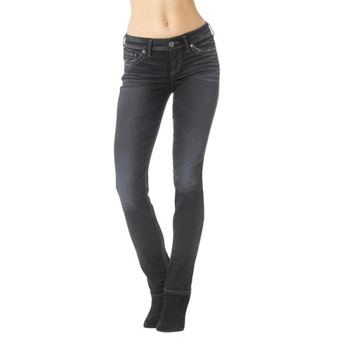 Silver Jeans Mid Straight Womens Skinny Jeans