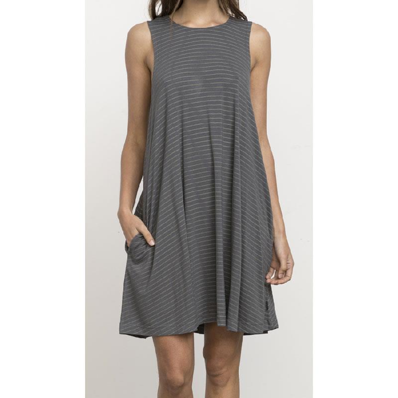 RVCA SUCKER PUNCH STRIPE DRESS IN WOMENS CLOTHING DRESSES - CASUAL DRESSES - DRESSES