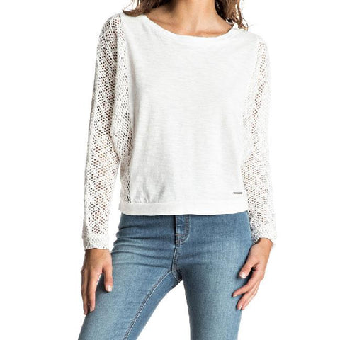 Roxy Talk To Me Lace Womens LS Tops