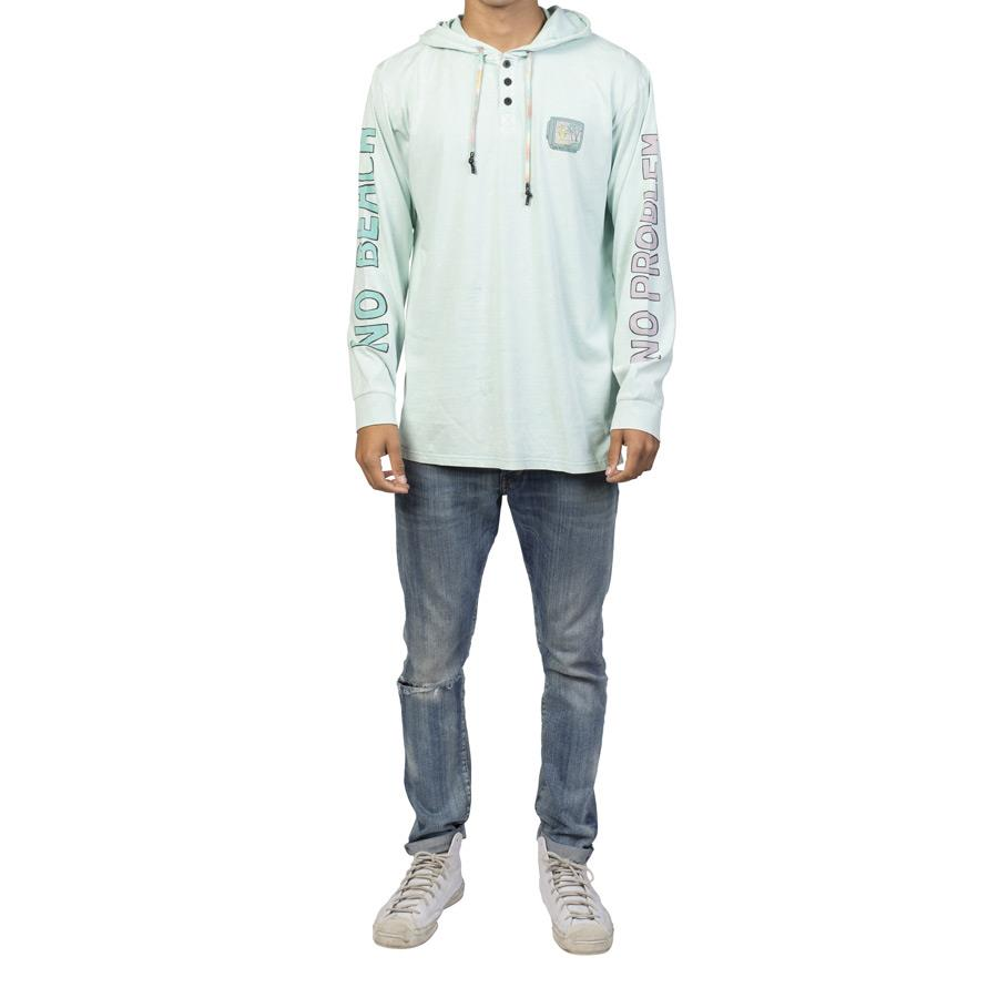 NEFF NO BEACH HOODIE L/S TEE IN MENS TANK TOPS AND JERSEYS - T-SHIRTS - MENS