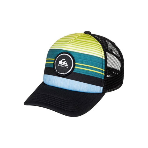 Quicksilver Striped Vee Boys Truckers Hats