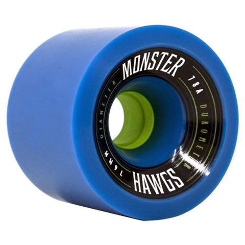 LANDYACHTZ MONSTER HAWGS 76MM IN LONGBOARD WHEELS - CARVING WHEELS - LONGBOARD WHEELS
