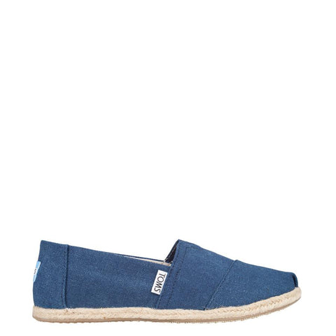 Toms Classic Washed Canvas Rope Womens Slip On Shoes
