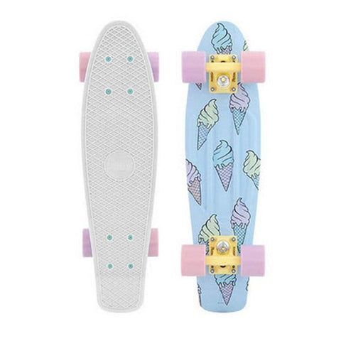 "PENNY SKATEBOARDS ICE SCREAM GLOW COMPLETE 22"" IN LONGBOARDS LONGBOARD COMPLETES - 20-25 INCHES - MINI CRUZERS"