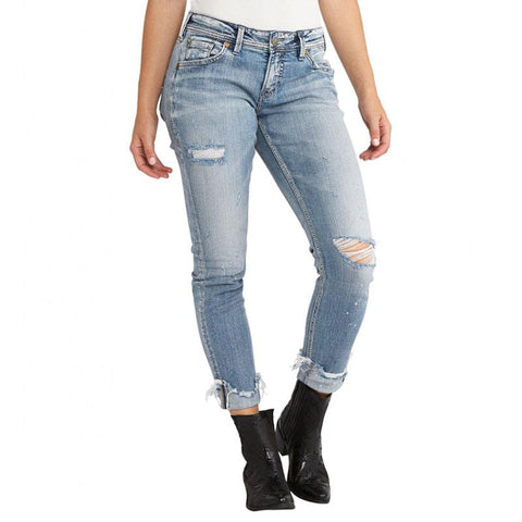 Silver Jeans Kenni Mid Womens Skinny Jeans