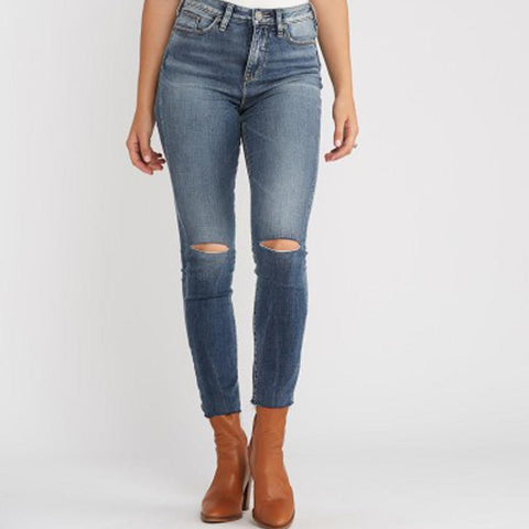 Silver Jeans Robson Ankle High Rise Jeggings