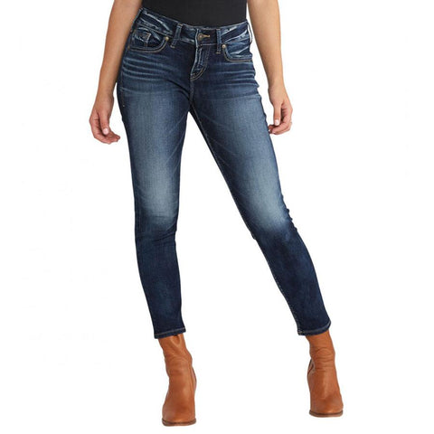 Silver Jeans Suki Mid Ankle Womens Skinny Jeans