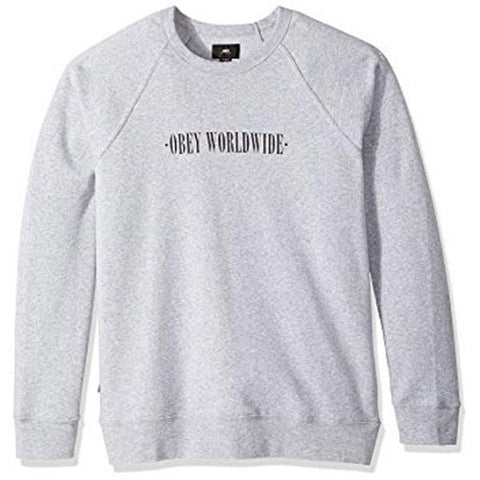 Obey New Times Mens Crew Neck Sweatshirts