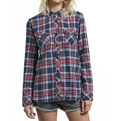 Volcom Street Dreaming Womens Flannel Long Sleeve Shirts