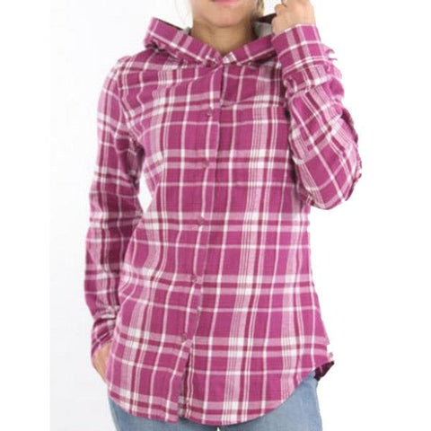 Hurley Wilson Long Sleeve Hooded Buttondown Shirt For Women