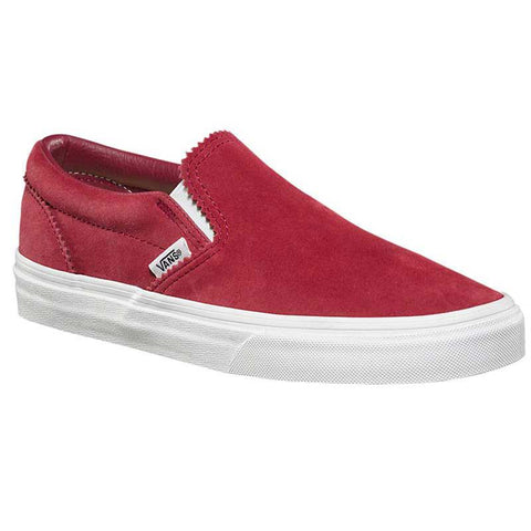 Vans Pinked Suede Classic Slip On Womens Shoes