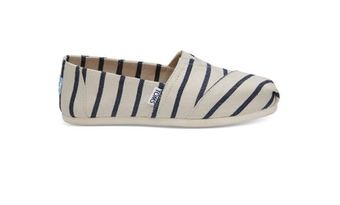 Toms,white stripe,classic venice,womens,9, side view