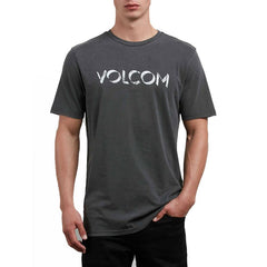 volcom shadow block short sleeve front view mens t-shirts short sleeve shirts black