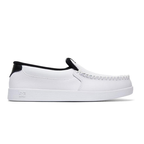 dc villain shoes side view mens slip on shoes off white