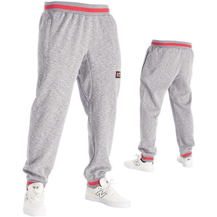 rds princeton sweatpant front and back view mens sweat pants heather grey