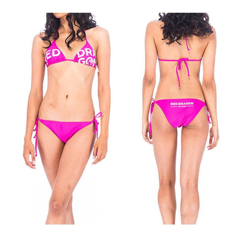 rds sans serif bikini front and back view bikinis complete pink