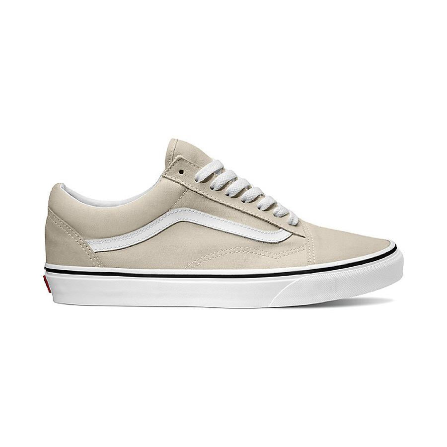 vans old skool side view mens skate shoes silve/white vn0a38g1qa3