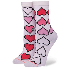 stance girls xo everyday overall view kids socks pink print g515a18xoe-pnk