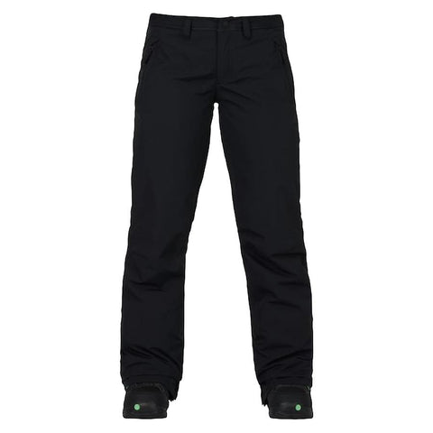 burton society pants womens front view womens snowpants black 10100104-001