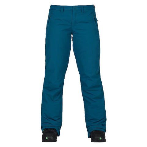 burton society pants womens front view womens snowpants blue oxford 10100103