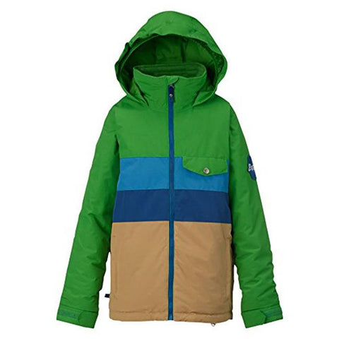 burton symbol jacket boys front view boys snowboard jackets green/blue 11569101361