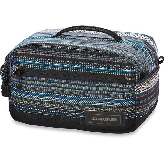 dakine dopp groomer travel kit large front view luggage black stripe 10001478-brighton
