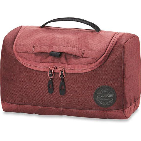 dakine revival kit large front view luggage maroon 610934215229-burnt rose