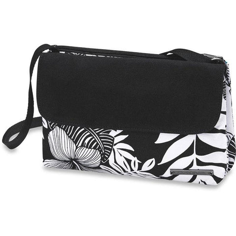 dakine jaime bag front view womens purses black/white 610934315762-hibscus palm