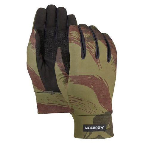 burton touch n go liner gloves front and back view mens gloves camo 10323104301