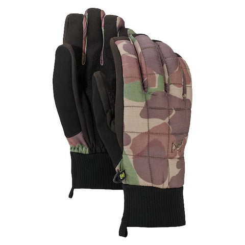 burton ak insulator glove front and back view mens gloves camo 15181102960