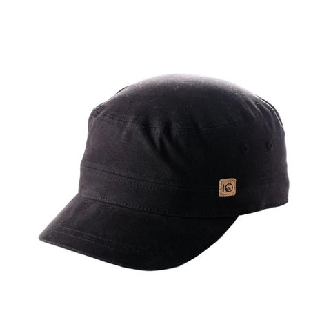 ten tree cadet cap side view mens hats black uhcad-blk