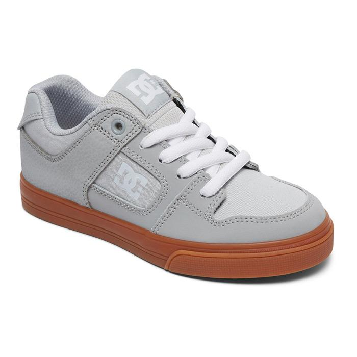 dc pure kids side view kids skate shoes gray adbs300267-2gg