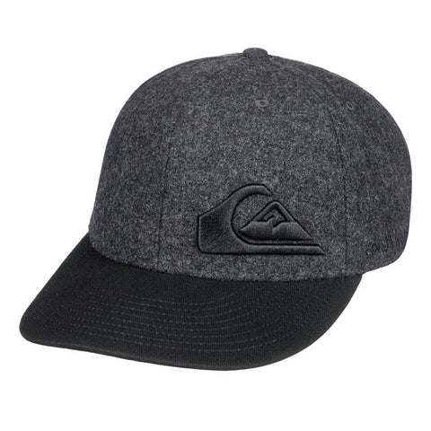 quicksilver final flexfit youth front view youth hats dark heather aqbha03284-knfh