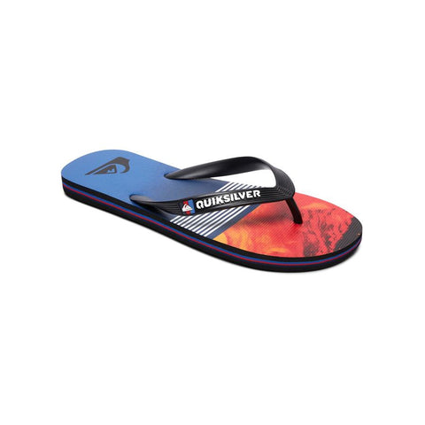 quicksilver molokai lava division sandals side view kids sandals blue/red aqbl100262-xkrb