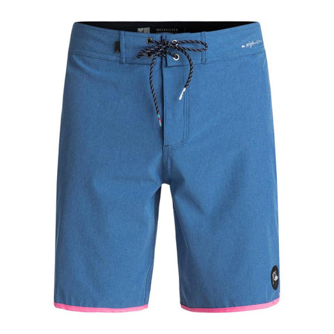 QUIKSILVER HIGHLINE SCALLOP 19 INCH BOARDSHORTS FRONT VIEW MENS BOARDSHORTS BLUE/PINK EQYBS03885-BLC0