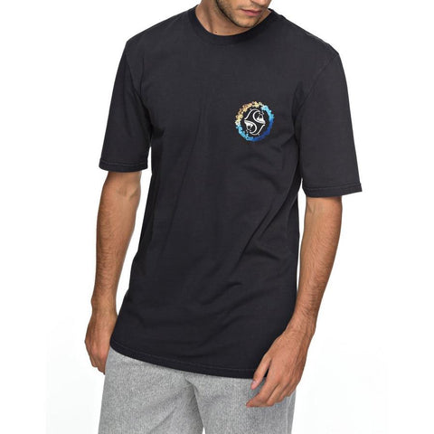 quicksilver lei all day tee front view Mens T-Shirts Short Sleeve black eqyzt04815-kvj0