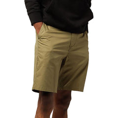 obey Straggler Light Short front view mens shorts military green