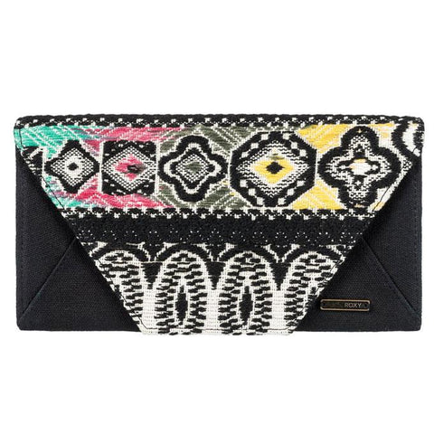roxy no reason wallet front view womens wallets black erjaa03398-kvj0