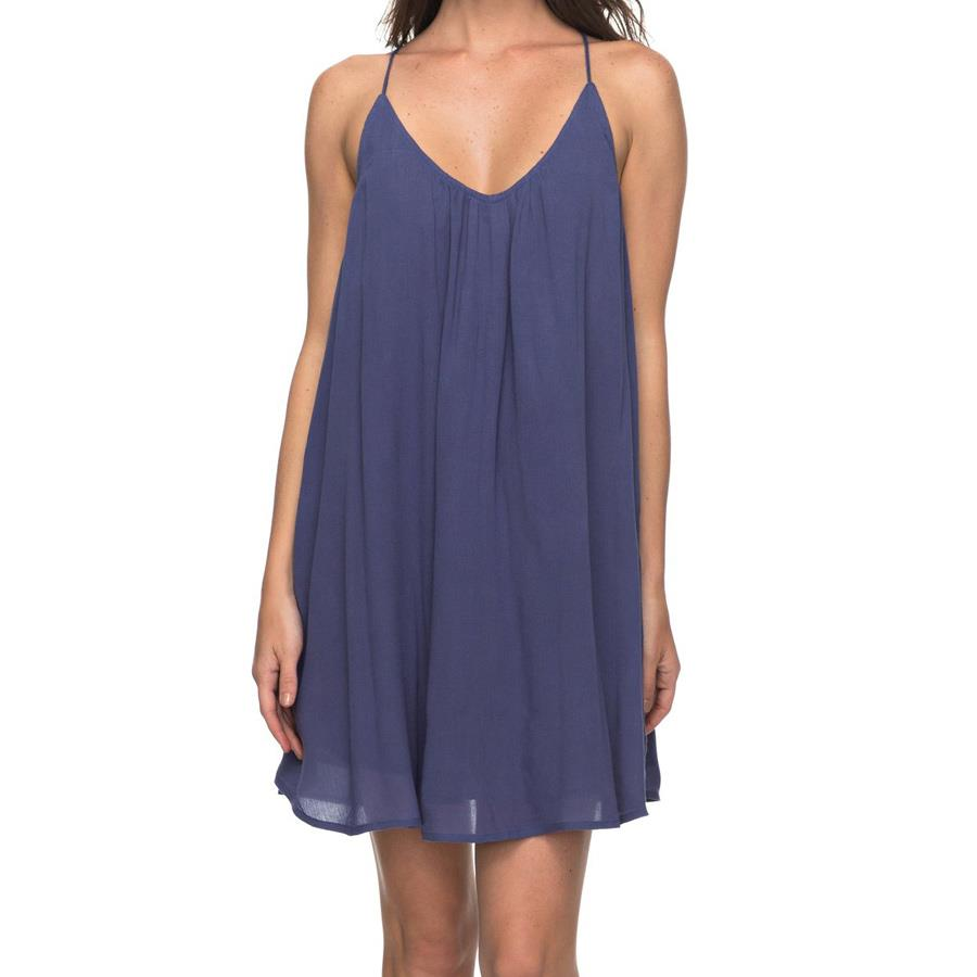 roxy Great Intentions Strappy Dress front view casual dresses blue erjwd03195-bre0