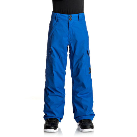 dc Banshee Snow Pants boys 8-1 front view youth snowboard pants blue edbtp03006-bqr0