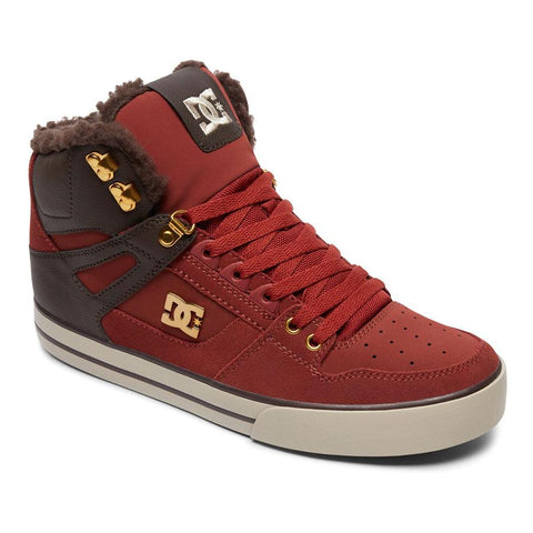 dc Spartan High WC WNT High Top Shoes side view mens winter boots red adys400005-cof