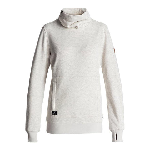 dc Veneer Mid Layer womens front view womens layer tops heather grey edjft03046-wej0